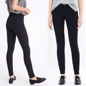 Madewell High Riser Skinny Sateen Jeans